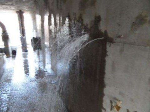 合肥经开区污水处理厂污水池防水堵漏施工案例