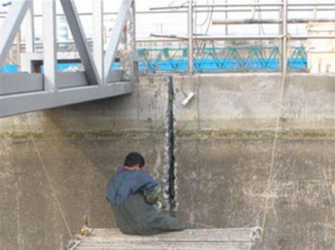 开封新区污水处理厂污水池防水堵漏施工案例