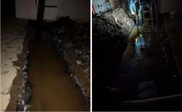 某时代广场负二地下室堵漏工程